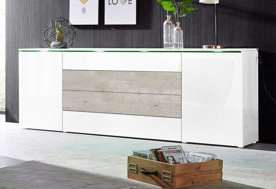 xxl sideboard breite 200 cm online kaufen otto. Black Bedroom Furniture Sets. Home Design Ideas