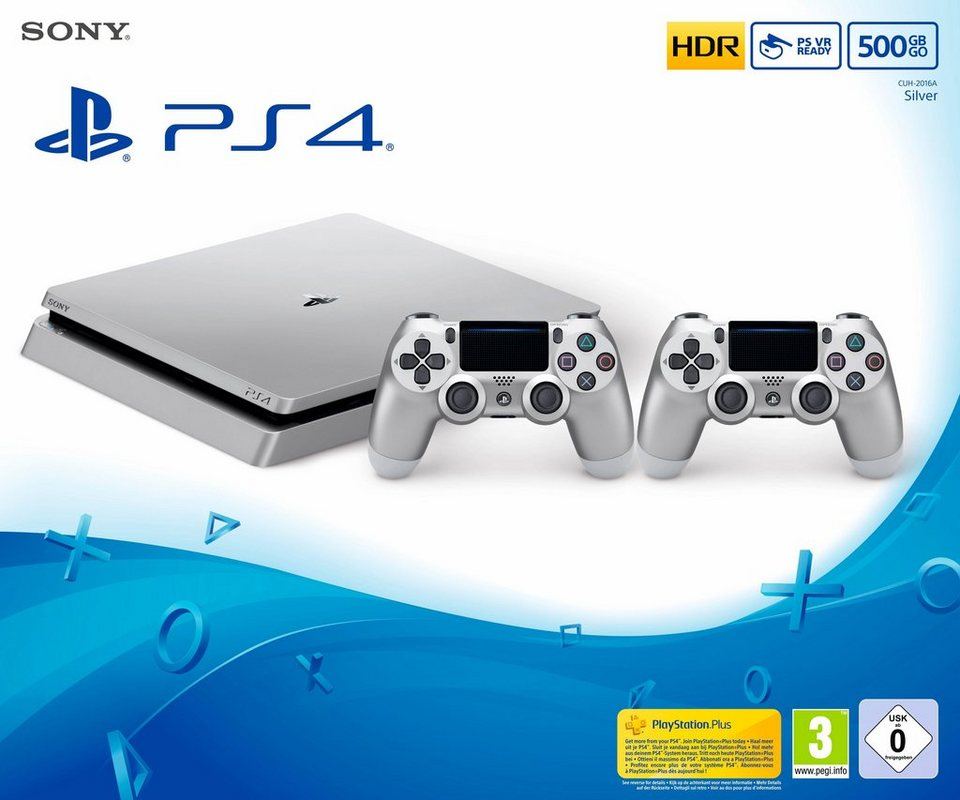 playstation 4 ps4 500gb slim 2 controller otto. Black Bedroom Furniture Sets. Home Design Ideas