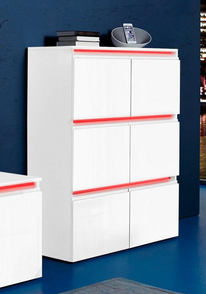 tecnos stauraumschrank h he 118 cm stehend oder h ngend montierbar online kaufen otto. Black Bedroom Furniture Sets. Home Design Ideas