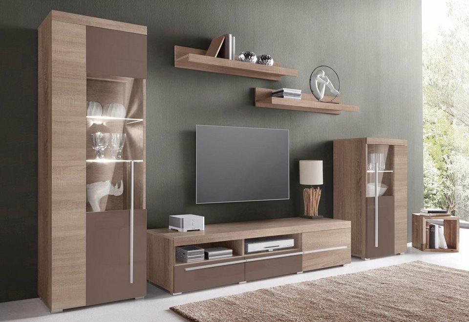 TRENDMANUFAKTUR Wohnwand, (Set, 5-tlg), Pflegeleichte Oberflächen Online Kaufen