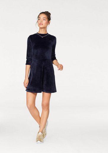 Samt Kleid A AJC im Retro Look Linien aus wTIgvgEx4q