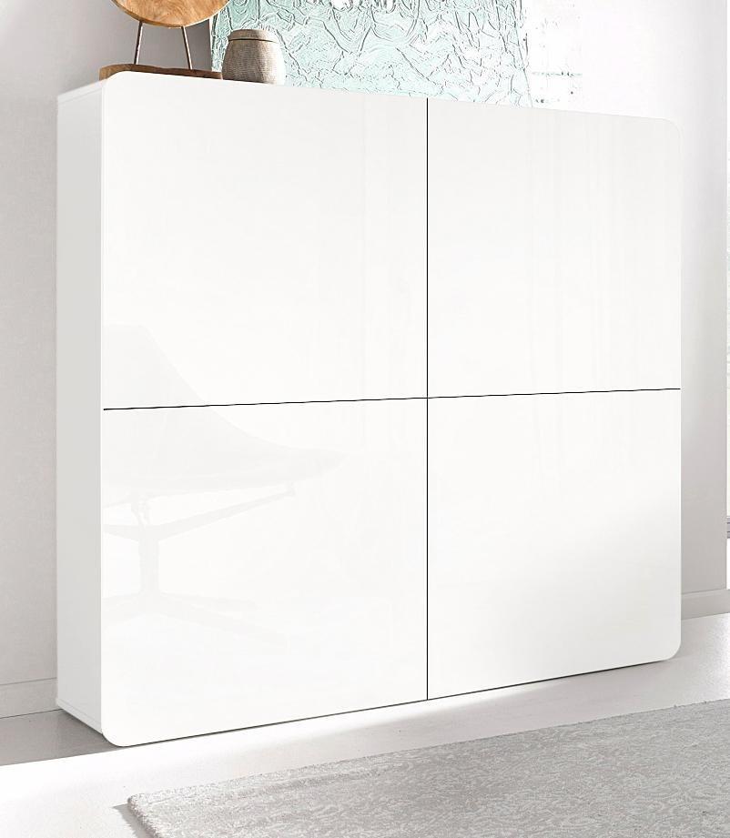 highboard weiss hochglanz sideboard wei hochglanz lack. Black Bedroom Furniture Sets. Home Design Ideas