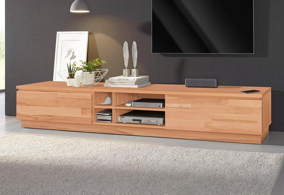 lowboard breite 200 cm fsc zertifiziertes massivholz. Black Bedroom Furniture Sets. Home Design Ideas