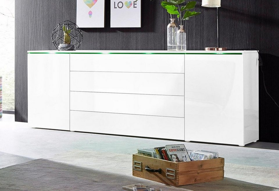 sideboard stahlfarben antik top sideboard bianco ii. Black Bedroom Furniture Sets. Home Design Ideas