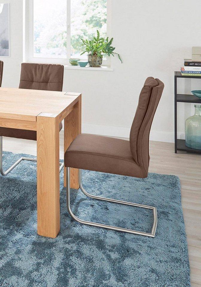 niehoff sitzm bel freischwinger 2er set komfort gestell edelstahl geb rstet online kaufen otto. Black Bedroom Furniture Sets. Home Design Ideas