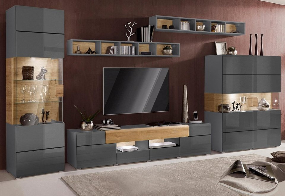 wohnwand toledo 5 tlg online kaufen otto. Black Bedroom Furniture Sets. Home Design Ideas