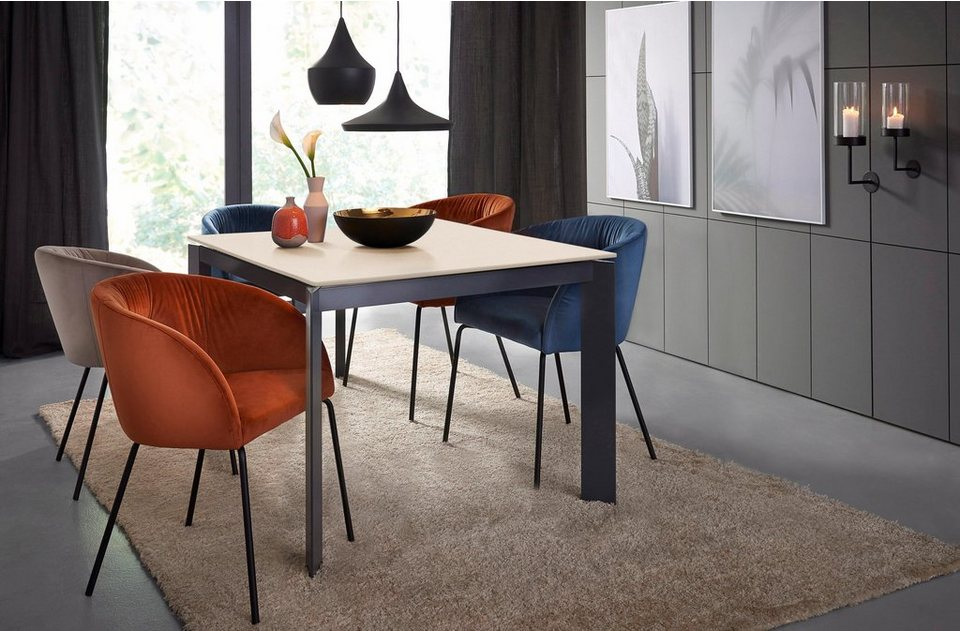 connubia by calligaris esstisch baron cb 4010 mit keramikplatte und auszugsfunktion online. Black Bedroom Furniture Sets. Home Design Ideas