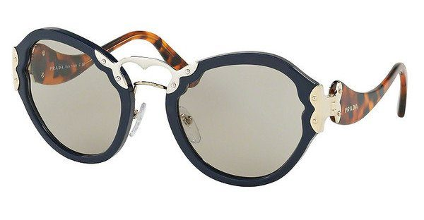 PRADA Prada Damen Sonnenbrille » PR 09TS«, blau, TFM5J2 - blau/braun
