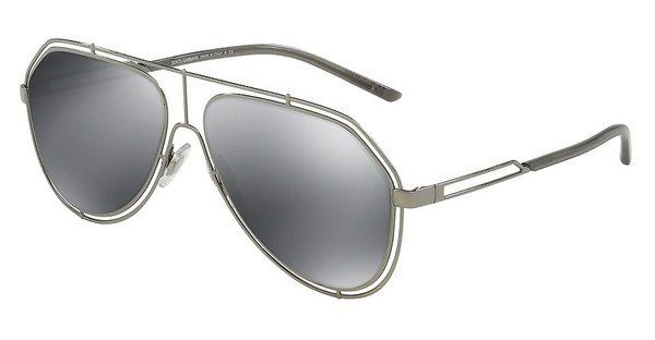DOLCE & GABBANA Dolce & Gabbana Herren Sonnenbrille » DG2189«, grau, 01/6G - grau/schwarz
