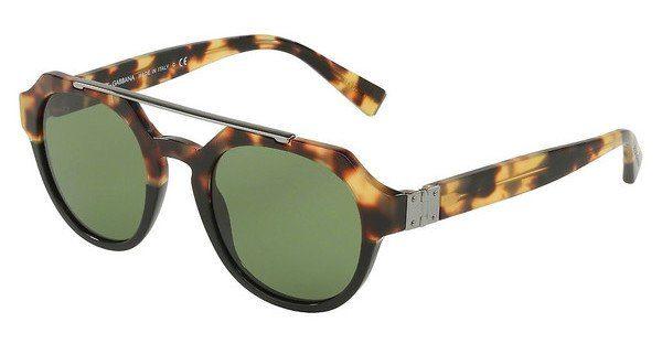 DOLCE & GABBANA Dolce & Gabbana Herren Sonnenbrille » DG4313«, schwarz, 314352 - schwarz/grün