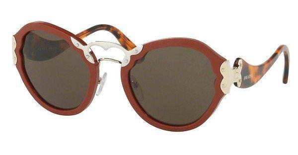 PRADA Prada Damen Sonnenbrille » PR 09TS«, orange, VAM4J1 - orange/grün