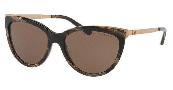 Ralph Lauren Damen Sonnenbrille » RL8160«, goldfarben, 5615F9 - gold/braun