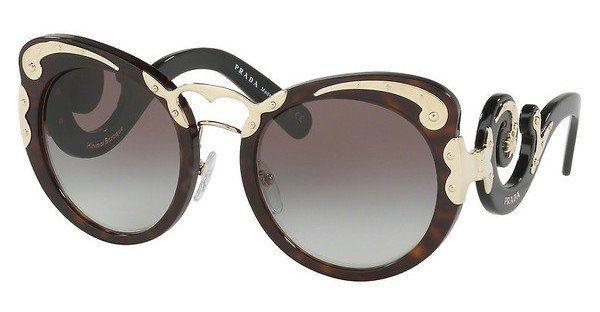 PRADA Prada Damen Sonnenbrille » PR 07TS«, braun, 2AU0A7 - braun/grau