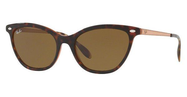 RAY BAN RAY-BAN Damen Sonnenbrille » RB4360«, braun, 123373 - braun/braun
