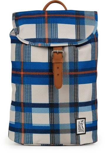 Checks Pack Cool Backpack Society Prints The Rucksack »small Allover« Blue 8dqvXw4