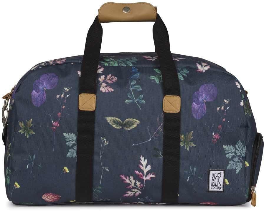 The Pack Society Reisetasche, »Weekender Cool Prints, dark floral allover«