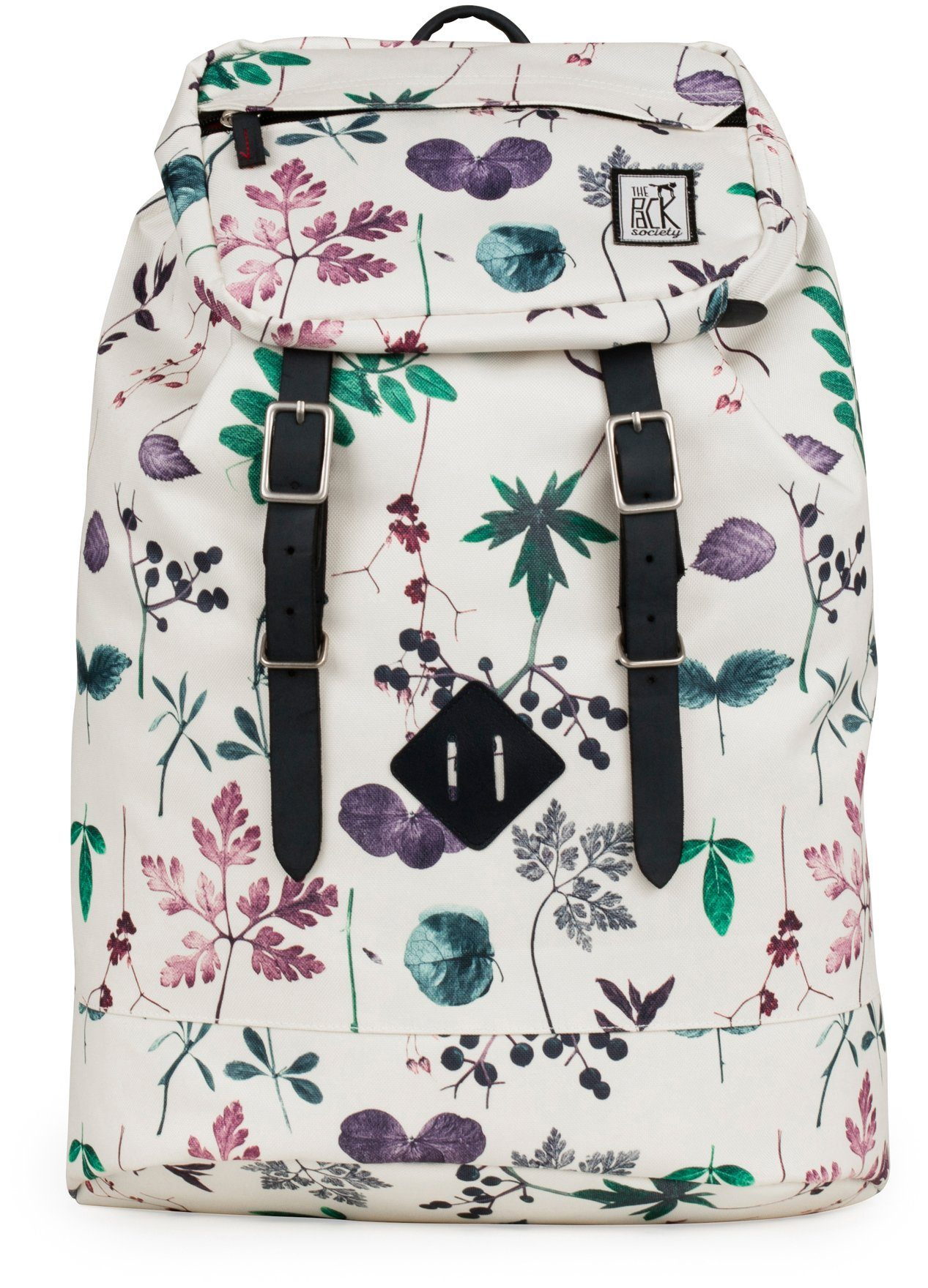 The Pack Society Rucksack, »Premium Backpack Cool Prints, multicolor flower allover«