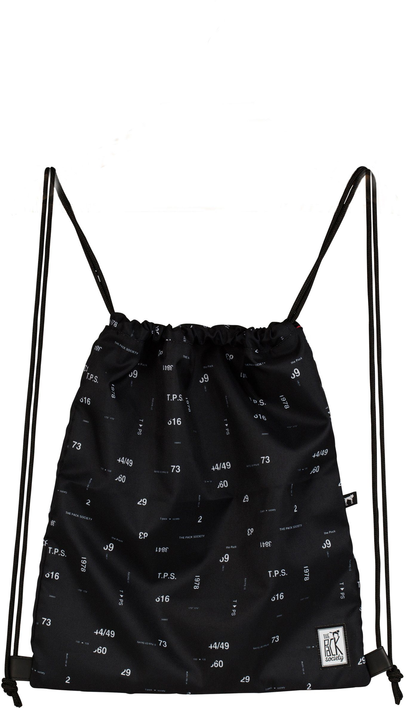 The Pack Society Turnbeutel, »Gymsack Cool Prints, black numbers allover«