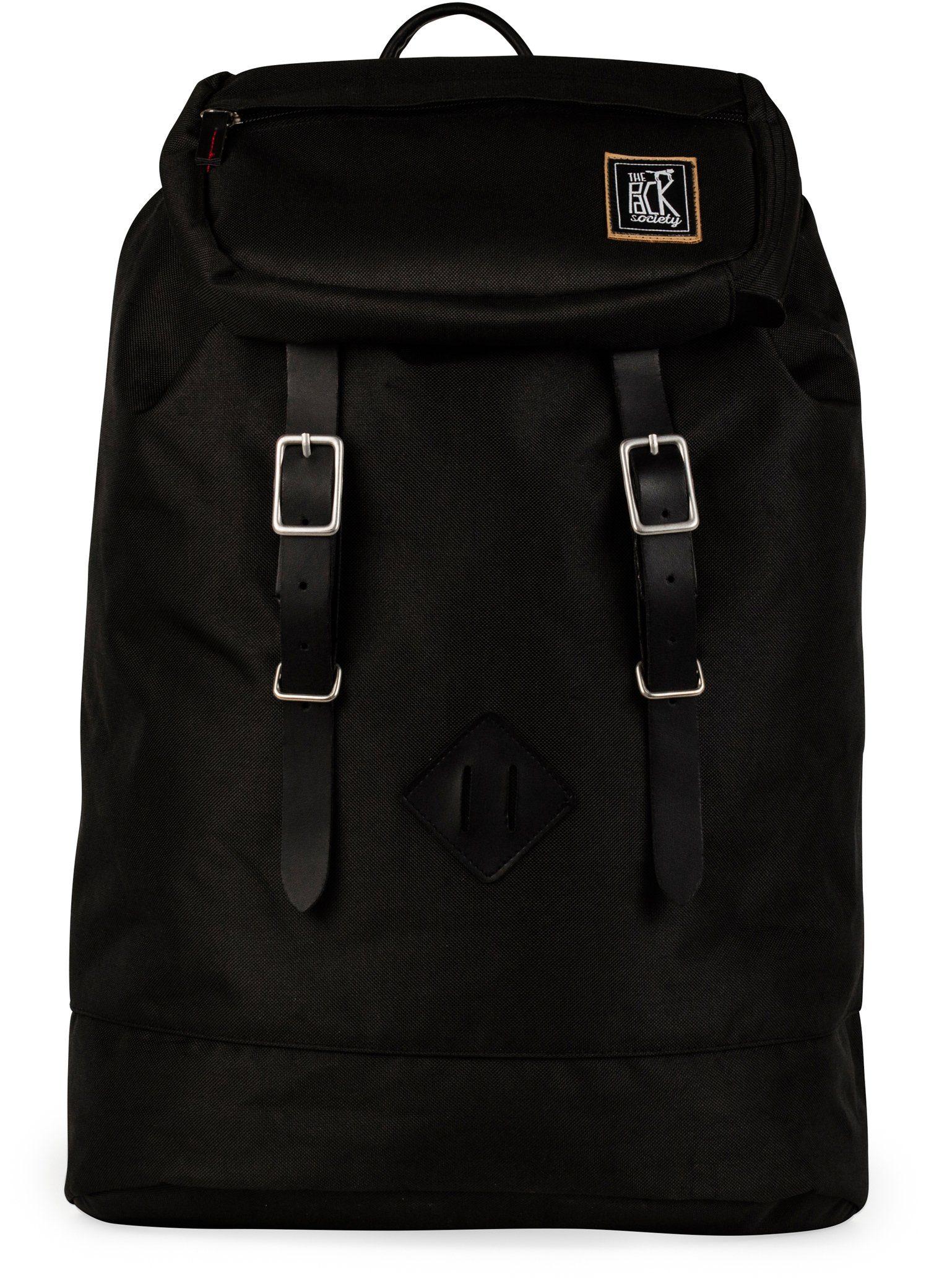 The Pack Society Rucksack, »Recycled PET Capsule Premium, black fabric«