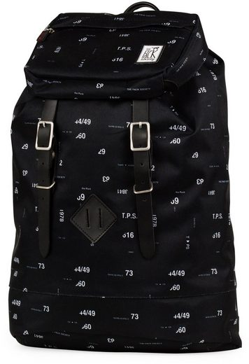 The Pack Society Rucksack, Premium Backpack Cool Prints, black numbers allover