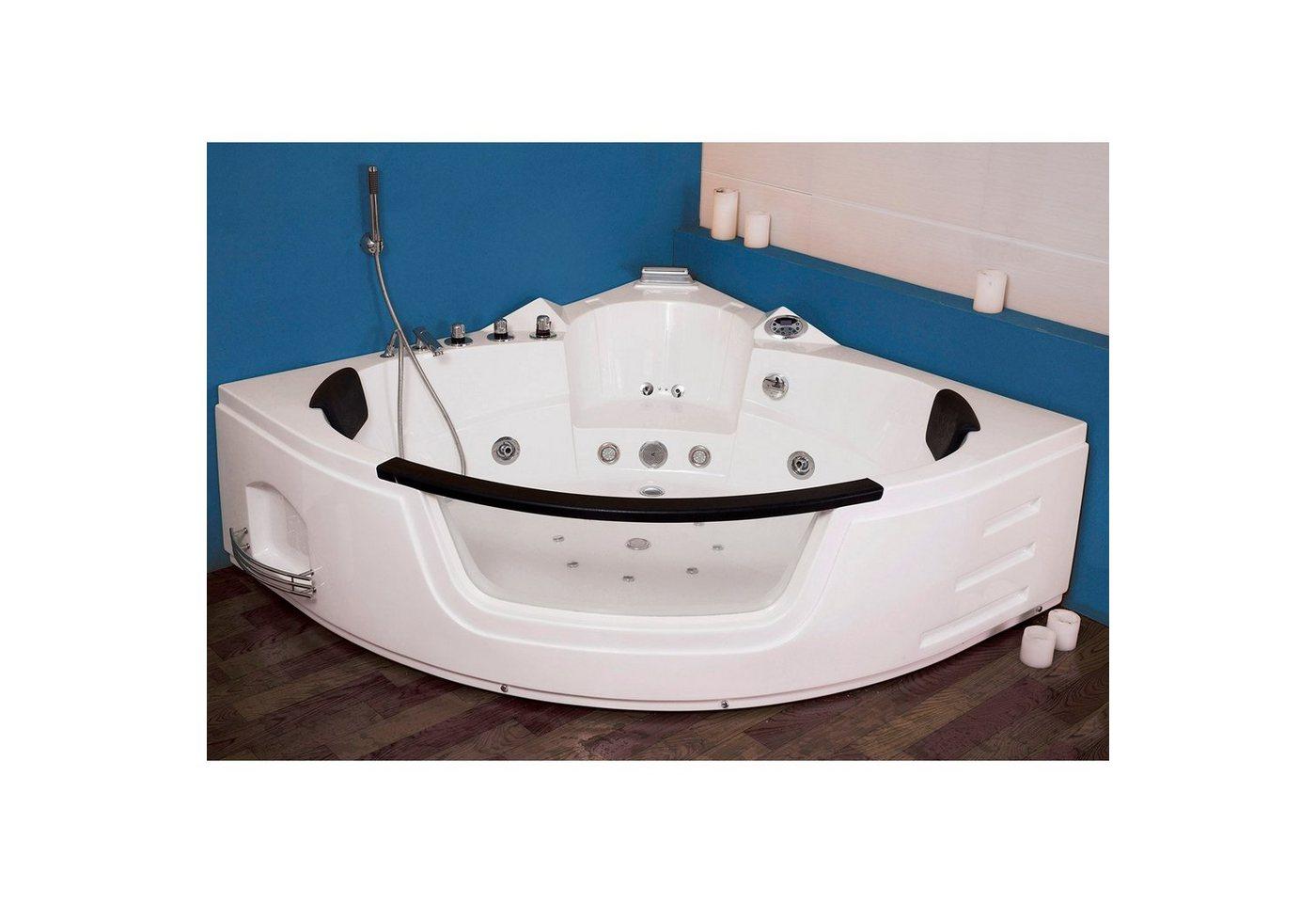 preisvergleich whirlpool eckbadewanne badewanne wanne pool thermostat willbilliger. Black Bedroom Furniture Sets. Home Design Ideas