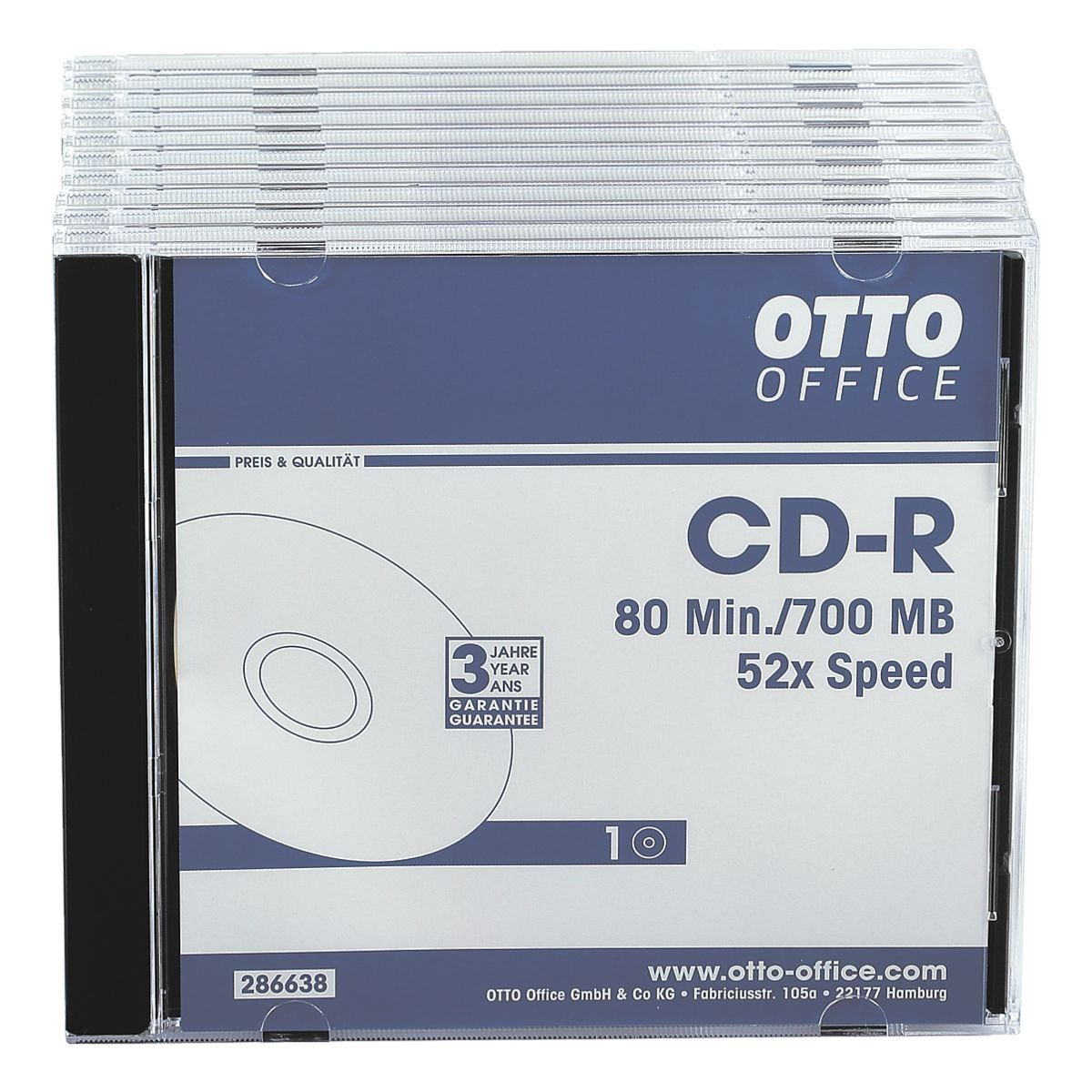 OTTOOFFICE STANDARD CD-Rohlinge, 10er Pack »CD-R«