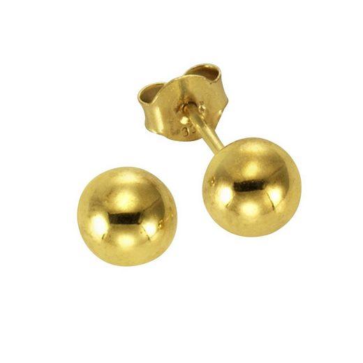 Vivance Ohrstecker »585/- Gelbgold Kugel 5mm«