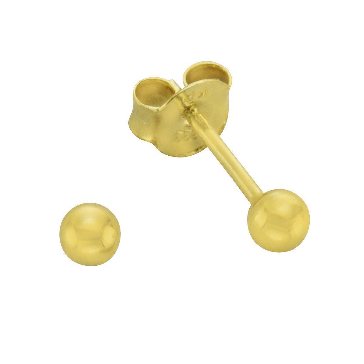 Firetti Ohrstecker »585/- Gelbgold Kugel 3mm«