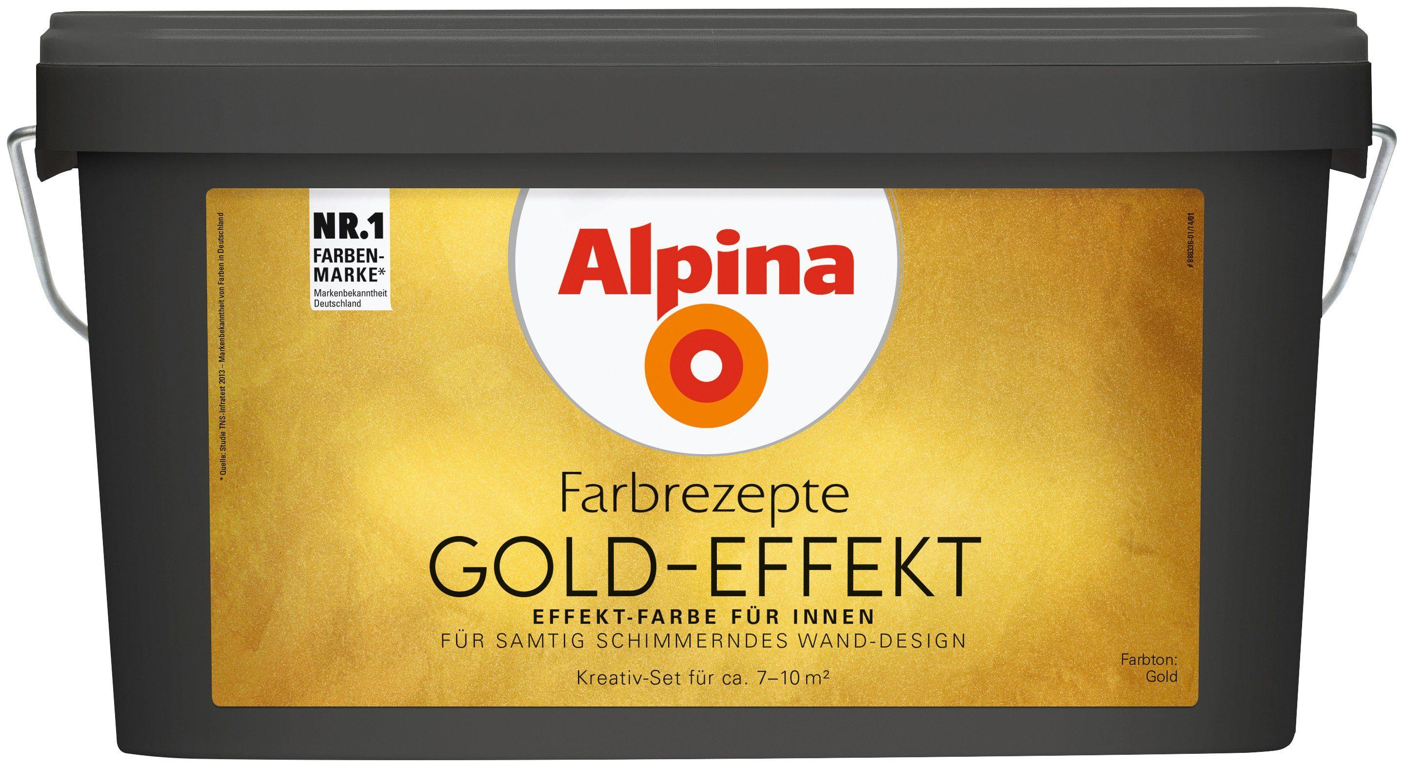 ALPINA Wand- und Deckenfarbe »Farbrezepte - Gold-Effekt«, 3 l