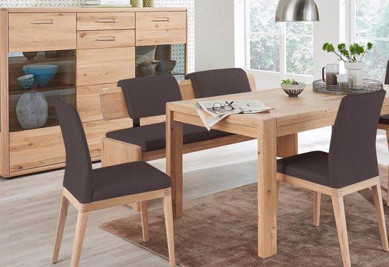 DECKER Sitzbank »DERVIO«, aus Massivholz, mit Lederbezug, in 2 Breiten