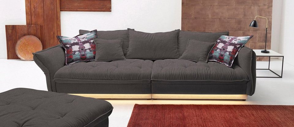 inosign big sofa wahlweise mit led ambiente beleuchtung online kaufen otto. Black Bedroom Furniture Sets. Home Design Ideas