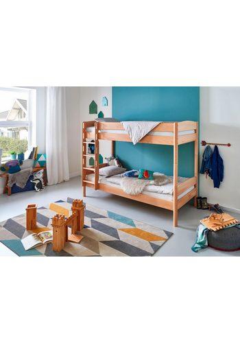 Relita Einzel-/Etagenbett Michelle mit runden Bettpfosten, Buche massiv  |