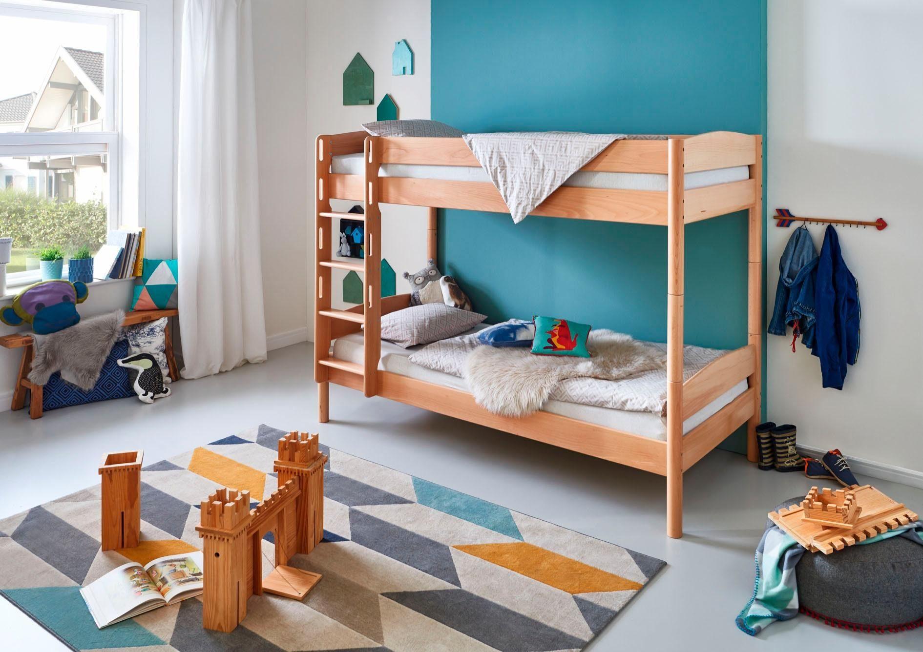 Etagenbett Kiefer Oder Buche : Kinderbett etagenbett moritz buche vollholz natur real