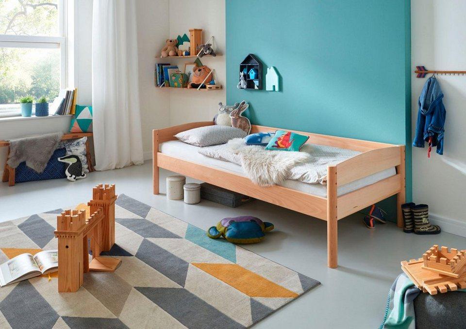 relita einzelbett michelle mit runden bettpfosten buche massiv online kaufen otto. Black Bedroom Furniture Sets. Home Design Ideas