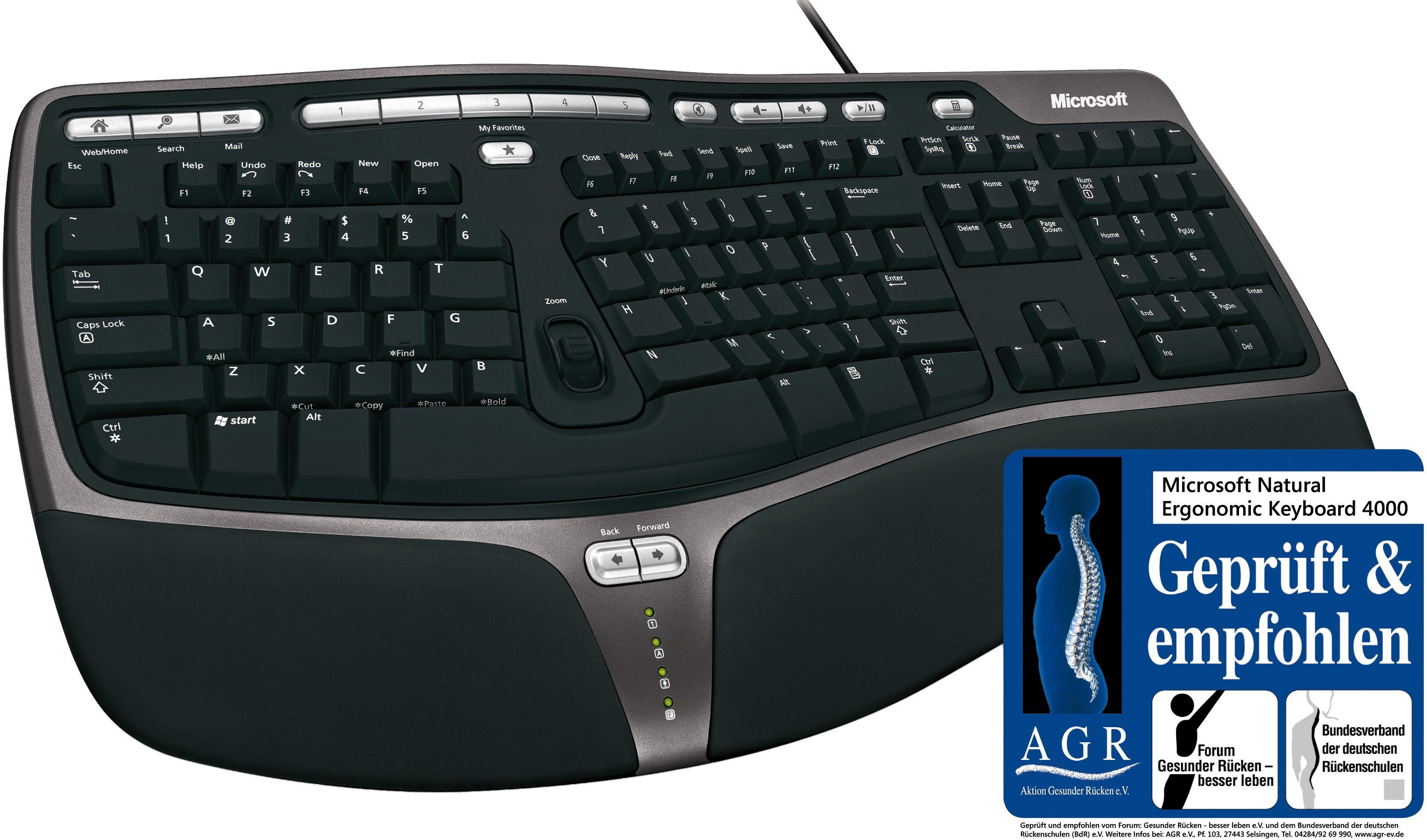 Microsoft Natural Ergonomic Keyboard 4000 Tastatur