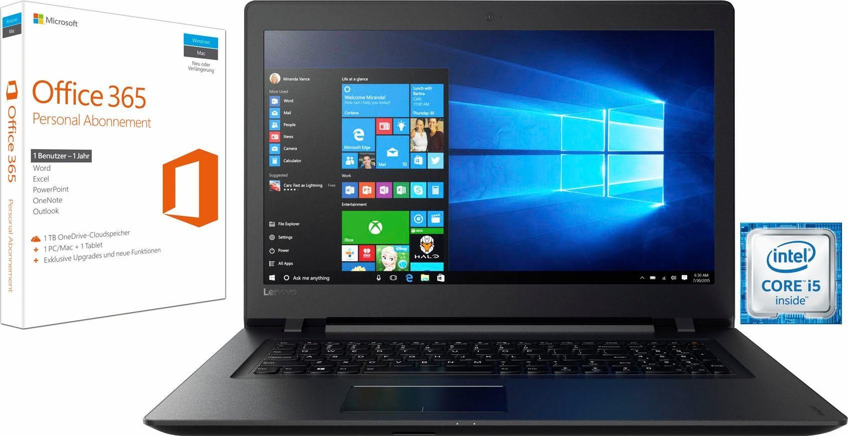 Lenovo Ideapad 110-17IKB Notebook (43,9 cm/17,3 Zoll, Intel Core i5, R5 M430, 2000 GB HDD)