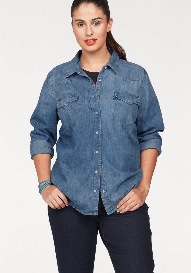 levi 39 s plus jeansbluse plus size western shirt. Black Bedroom Furniture Sets. Home Design Ideas