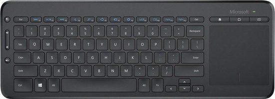 Microsoft »All-in-One Media Keyboard« Tastatur mit Touchpad