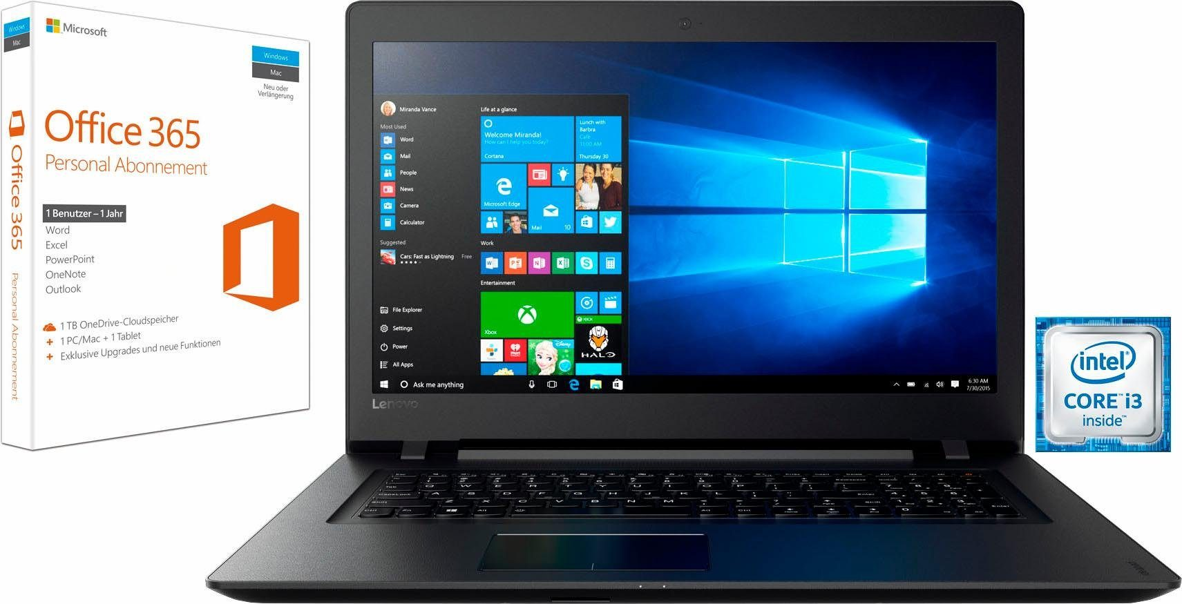 Lenovo 110-17IKB Notebook (43,9 cm/17,3 Zoll, Intel Core i3, R5 M430, 1000 GB HDD)