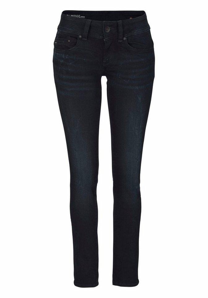 205bca9312d G-Star RAW Straight-Jeans »Midge Saddle Mid straight« mit Stretch ...