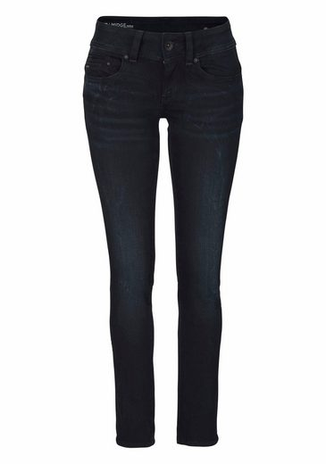 G-Star RAW Straight-Jeans »Midge Saddle Mid straight« mit Stretch