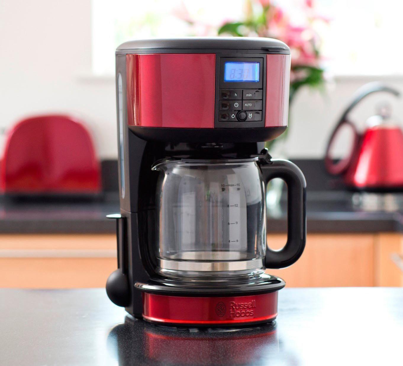 RUSSELL HOBBS Filterkaffeemaschine 20682-56 Legacy Red, 1,25l Kaffeekanne, Papierfilter 1x4, mit Selbstreinigungsfunktion