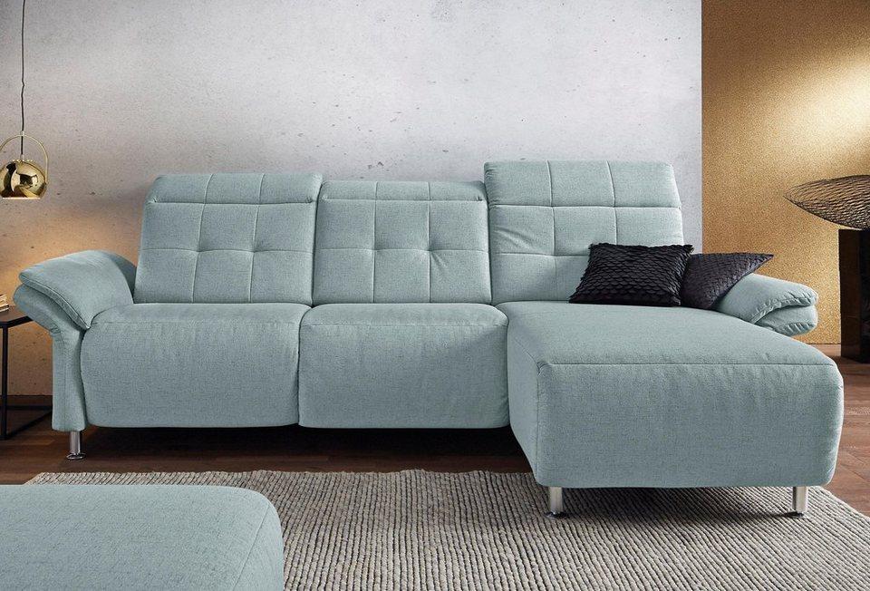 places of style ecksofa manhattan mit elektrischer. Black Bedroom Furniture Sets. Home Design Ideas