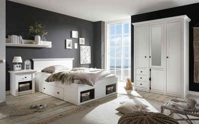 Home Affaire Schlafzimmer Set «California» Klein, Bett 140 Cm, 1 Nachttisch