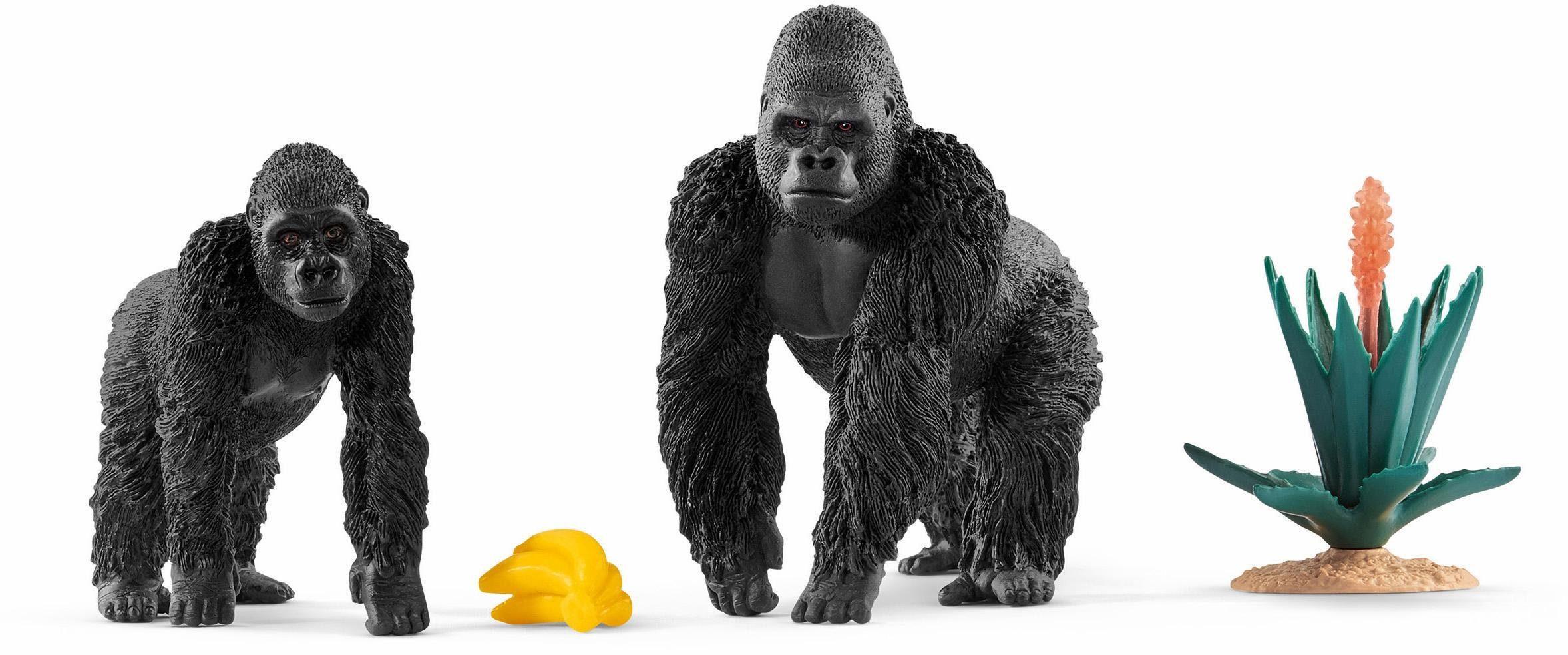 Schleich® Spielset (42382), »Wild Life, Gorillas auf Futtersuche«