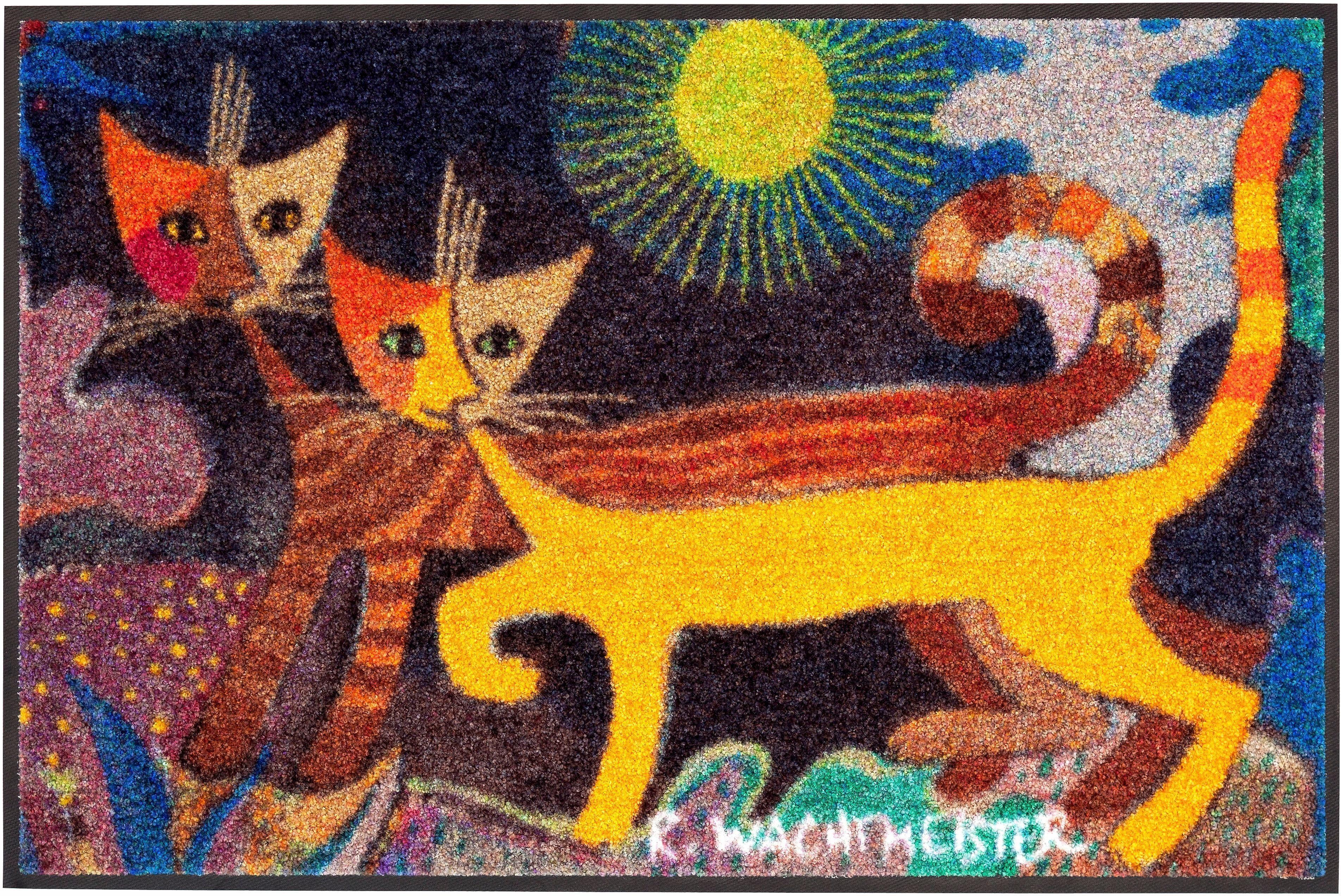 Fußmatte »Wonderland«, Rosina Wachtmeister, rechteckig, Höhe 6 mm