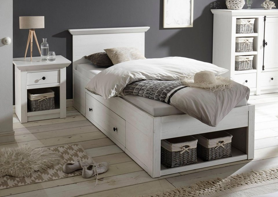 home affaire bett california mit schublade und offenen f chern online kaufen otto. Black Bedroom Furniture Sets. Home Design Ideas