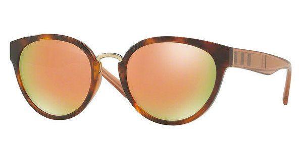 BURBERRY Burberry Damen Sonnenbrille » BE4249«, braun, 33164Z - braun/ gold