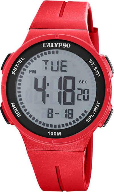 CALYPSO WATCHES Digitaluhr »UK5803/1 Calypso Herren Uhr Digital Fashion«, (Digitaluhr), Herrenuhr rund, groß (ca. 44mm), Kunststoffarmband, Fashion-Style