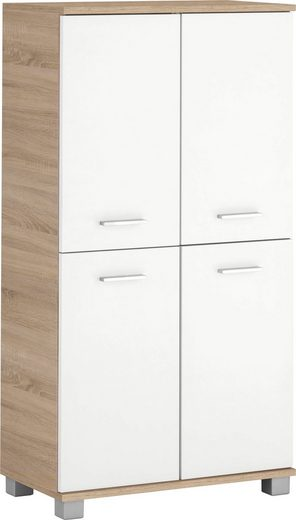Schildmeyer Midischrank »Lagona« Breite 59,8 cm, Metallgriffe, verstellbare Einlegeböden, 4 Türen